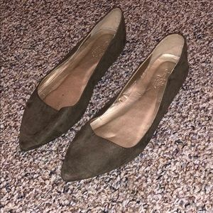 Charlotte Russe Olive Pointed Toe Flats